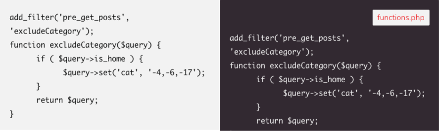 wordpress gutenberg code blocks css design